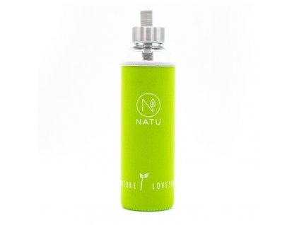 sklenena lahev v zelenem termo obalu natu 550 ml (2)