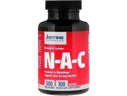 Jarrow NAC (N Acetyl L Cystein) 500 mg, 100 kapslí