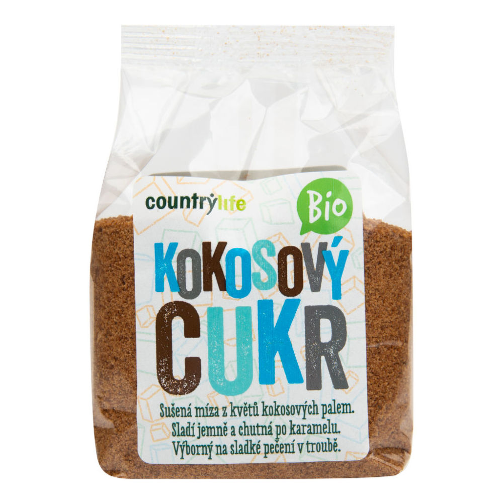 CountryLife Cukor kokosový BIO, 250 g