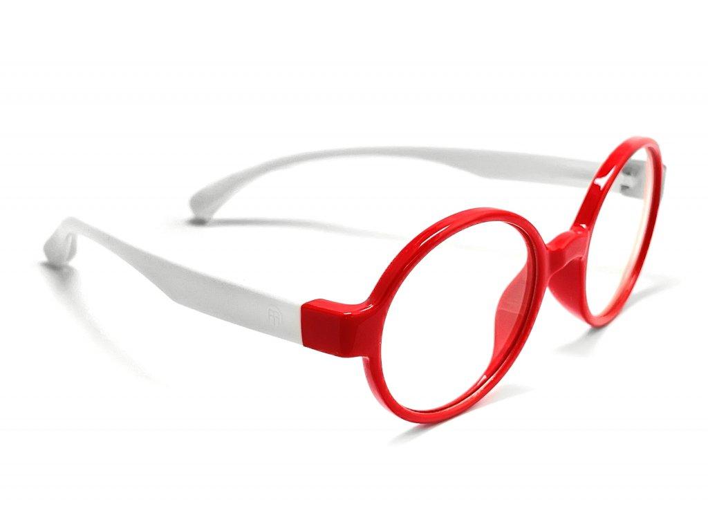 Votamax Dětské brýle CUBE blokující 35% modrého světla (bílo-červené)