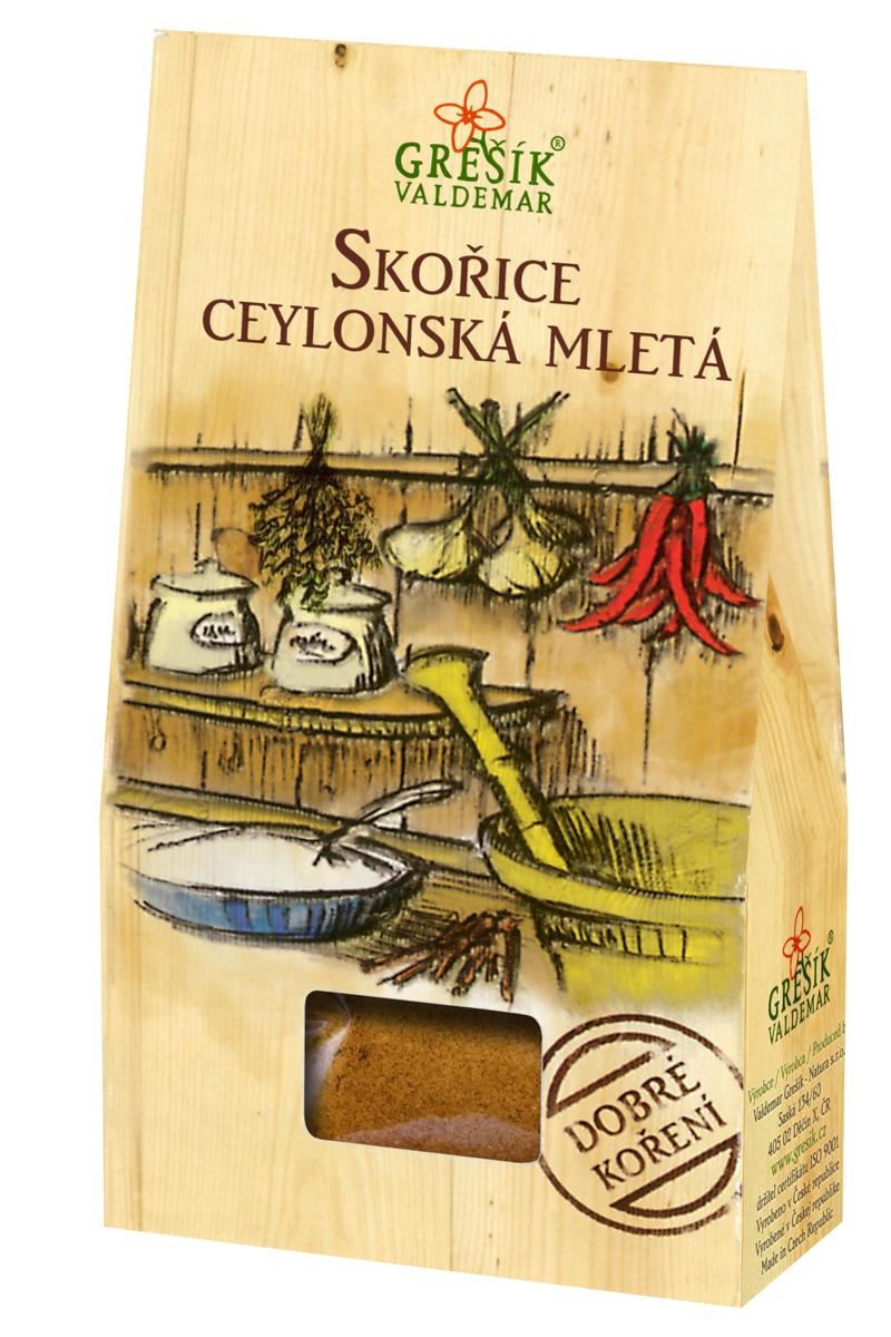 GREŠÍK VALDEMAR Dobré korenie - škorica cejlónska mletá, 50 g