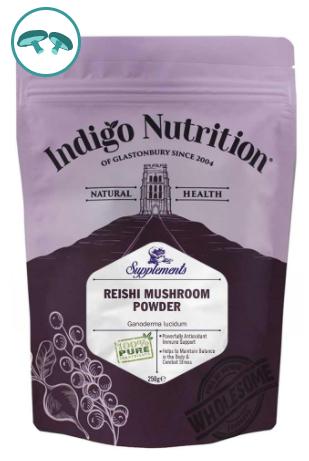 Indigo Herbs Reishi Mushroom Pure Powder, 50 g