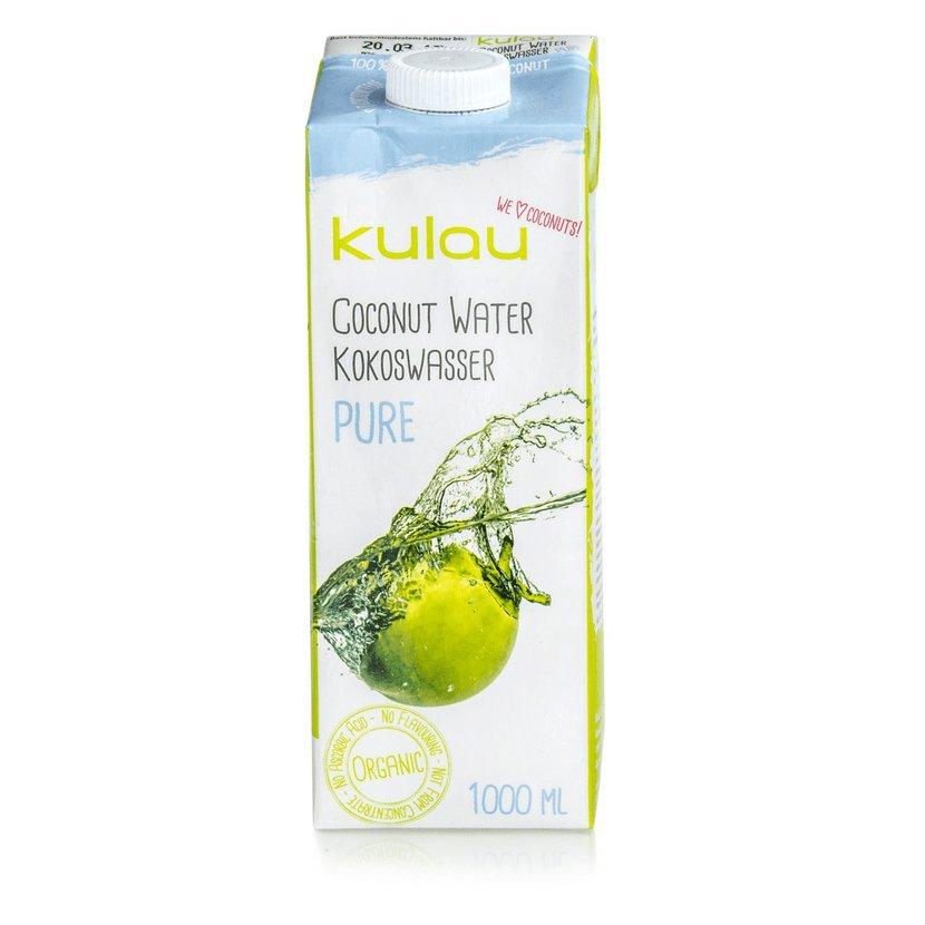 Kulau - BIO 100 % kokosová voda PURE, 1000 ml