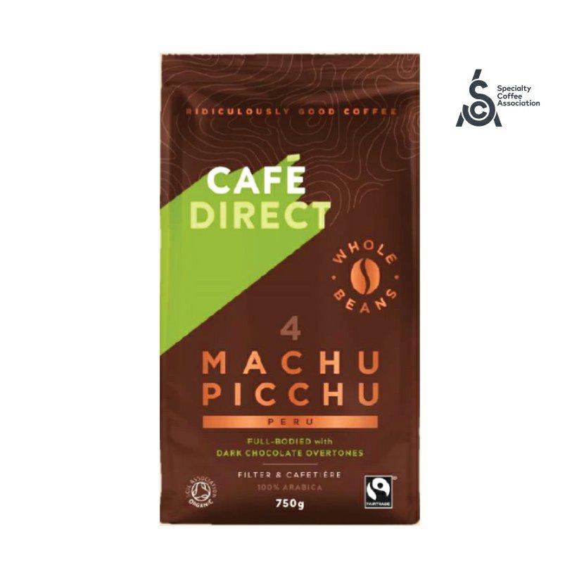 Cafédirect - BIO Machu Picchu SCA 82 zrnková káva, 750g