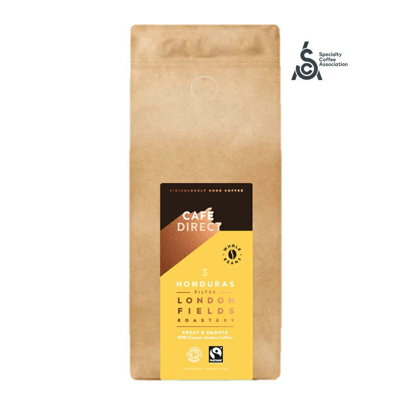 Cafédirect - BIO zrnková káva Honduras SCA 83 s tónmi karamelu a orieškov, 1 kg