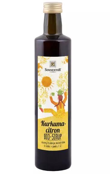 Sonnentor - kurkuma - citron sirup 500ml
