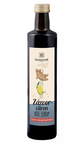 Sonnentor - zázvor - citrón sirup 500ml