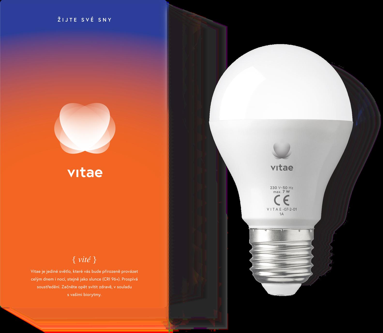 Biodynamická žiarovka VITAE 3 v 1, závit E27