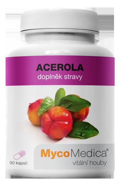 MycoMedica - Acerola v optimální koncentraci, 90 rostlinných kapslí