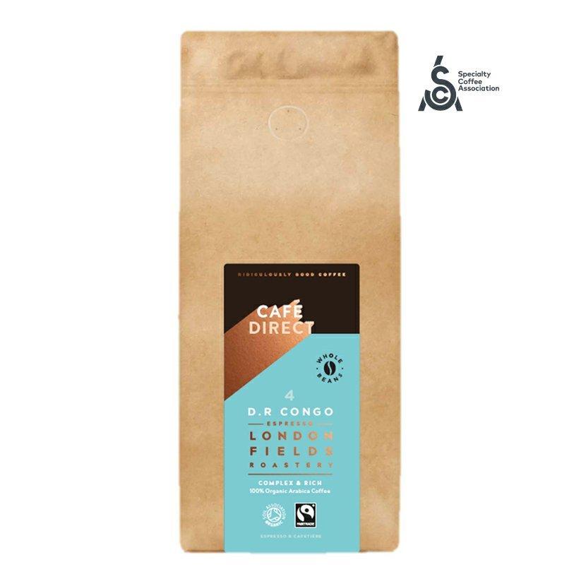Cafédirect - BIO zrnková káva Congo SCA 84 s tóny medu a hořké čokolády 1kg
