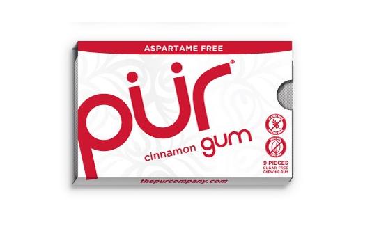 PÜR přírodní žvýkačky bez Aspartamu, Skořice, 9ks