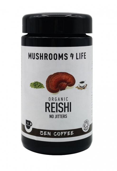 Mushrooms 4 Life Káva ze Sumatry s houbou Reishi, vanilkou a kardamomem, rozpustná, 80 g