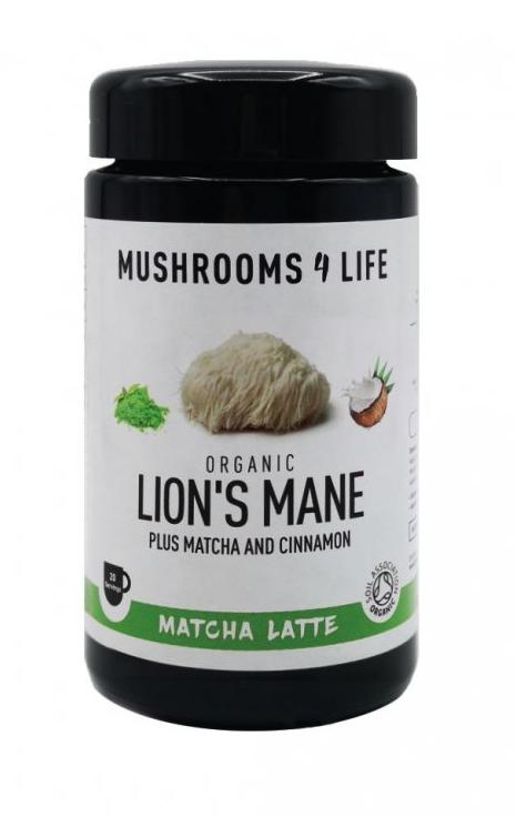 Mushrooms 4 Life Kokosové latté s houbou Lion's Mane, matcha čajem a skořicí, 110 g
