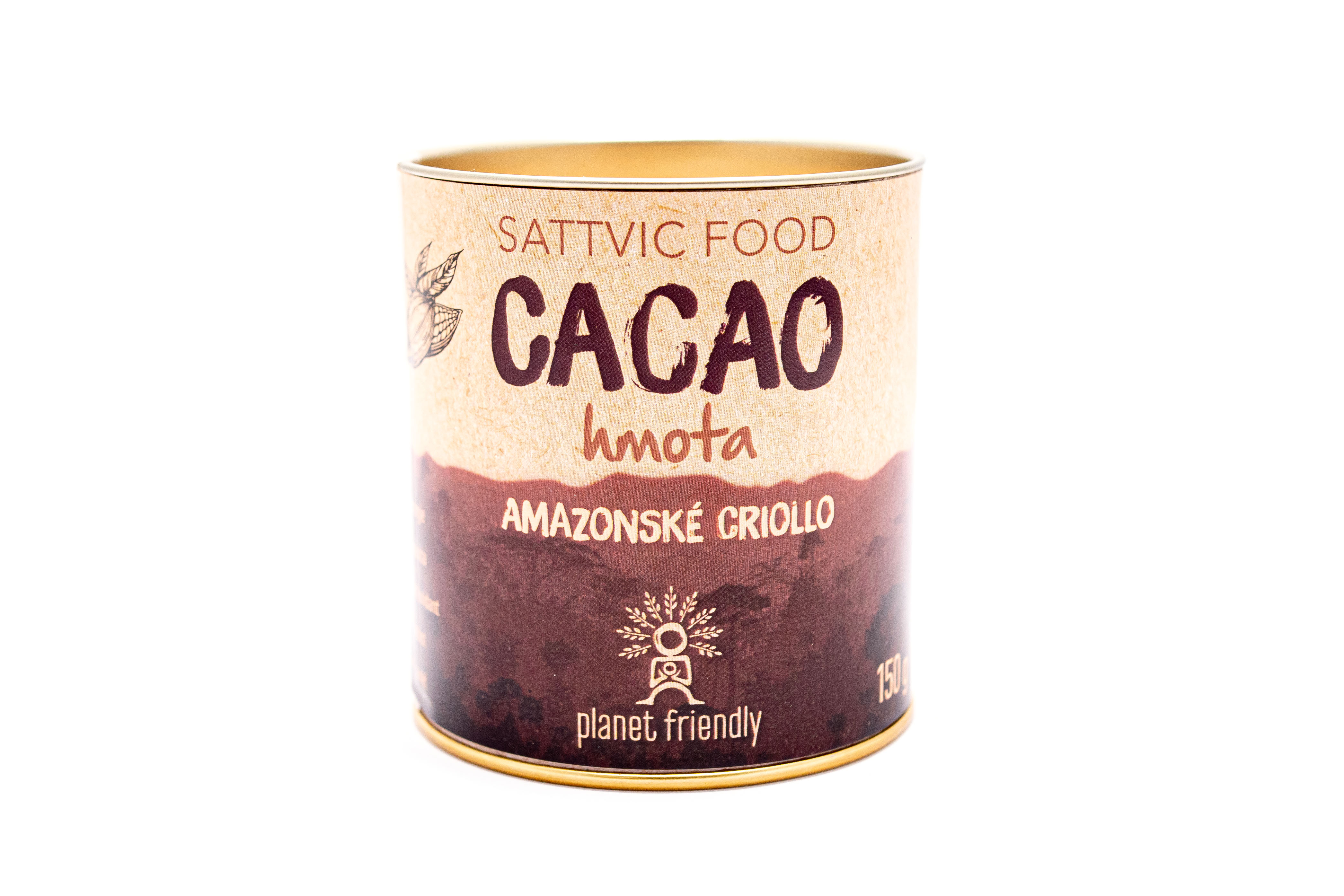 Planet Friendly Sattvic Food Cacao hmota - peruánské kakao, 150 g