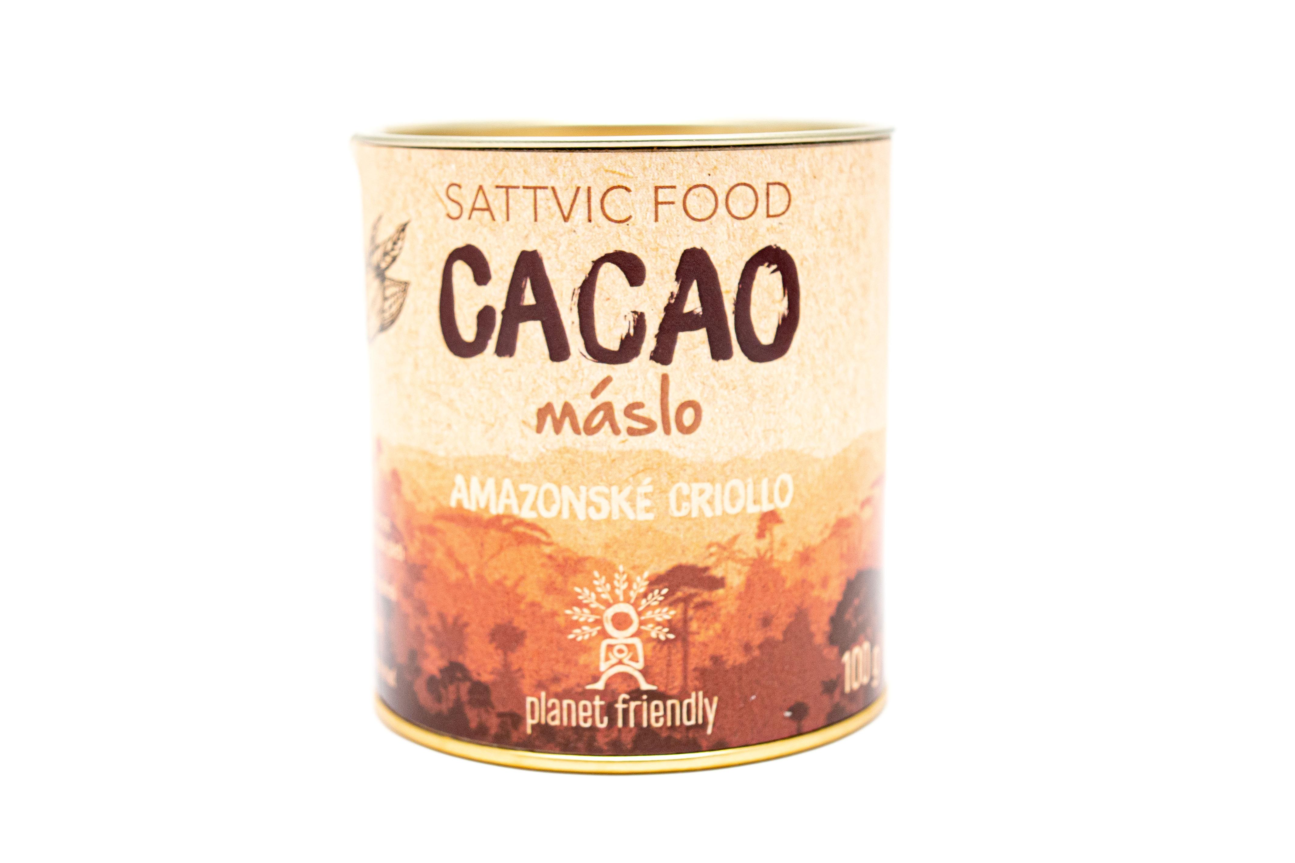 Planet Friendly Sattvic Food Cacao máslo - peruánské kakao, 100 g