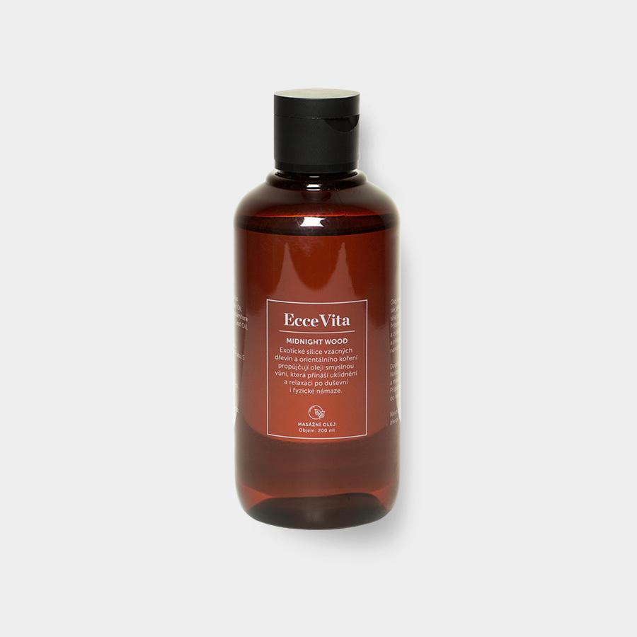 Ecce Vita EcceVita masážní olej - Midnight Wood, 200ml
