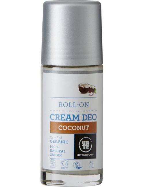URTEKRAM, Deodorant roll on krémový Kokosový 50ml BIO