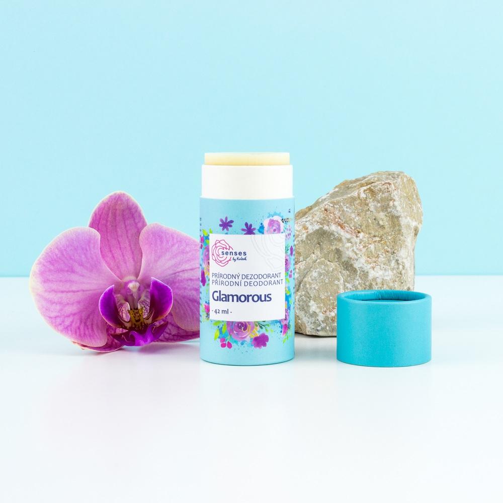 Kvitok tuhý dezodorant SENSES - Glamorous, 42 ml