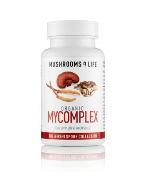 Mushrooms 4 Life BIO Komplex Reishi, Cordyceps, Maitake, 60 kapslí