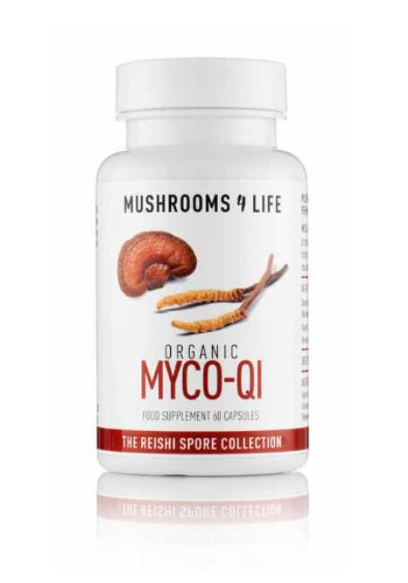 Mushrooms 4 Life BIO MYCO-QI Reishi a Cordyceps, 60 kapslí