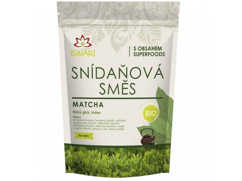 Iswari Bio snídaňová směs - Matcha 300 g