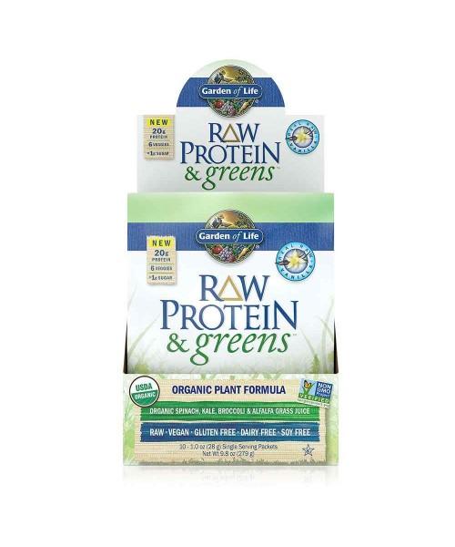 Garden of Life - RAW Protein & Greens Organic - vanilka, 28 g (vzorka)