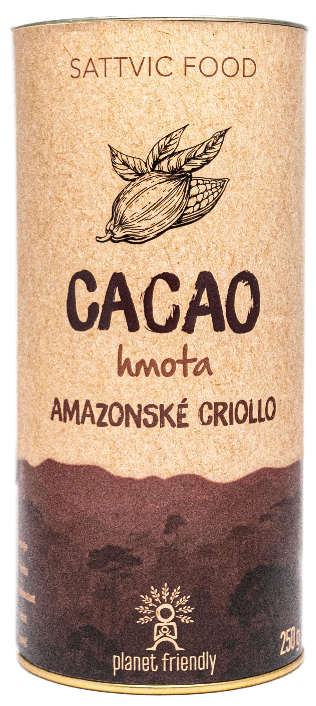 Planet Friendly Cacao Criollo hmota - peruánské kakao, 250 g