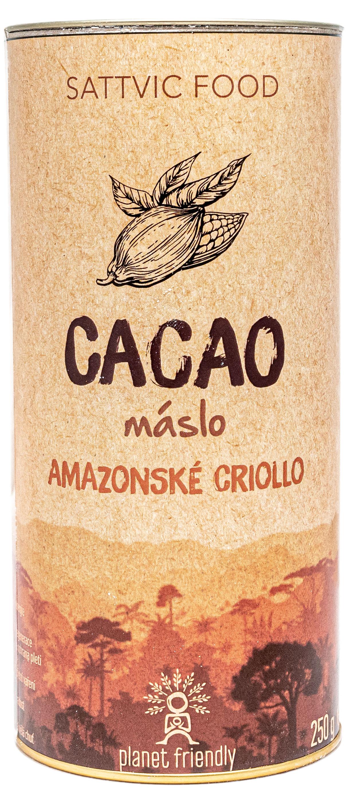 Planet Friendly Cacao Criollo máslo - peruánské kakao, 250 g
