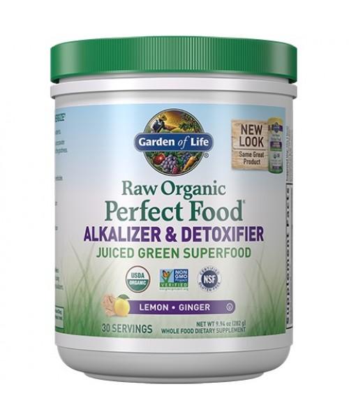 Garden of life RAW Organic Perfect Food Alkalizer & Detoxifier 282g (sušená šťáva)