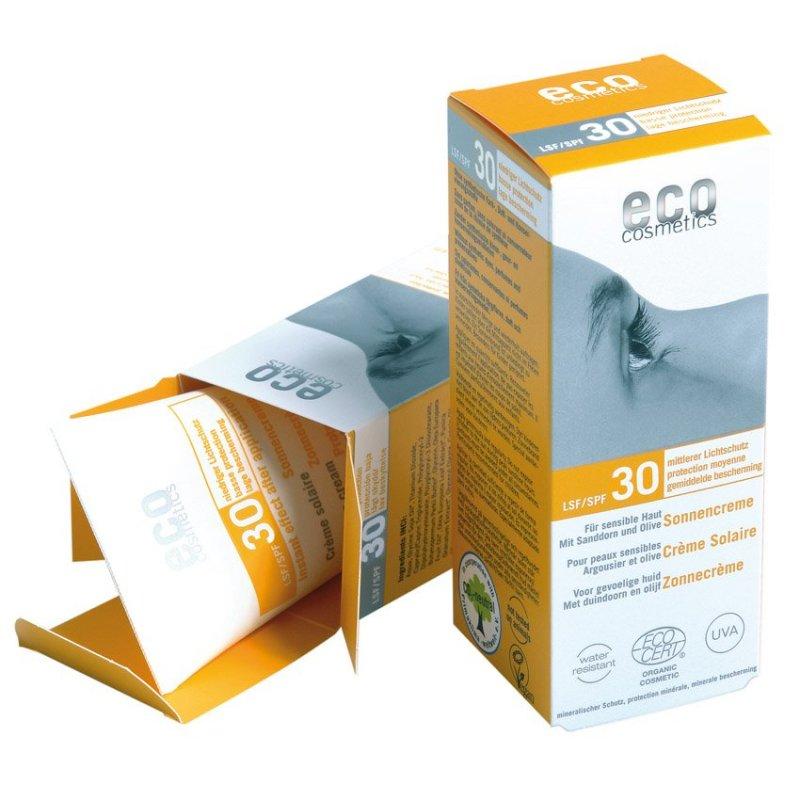 Eco Cosmetics opaľovací krém SPF 30 BIO, 75 ml