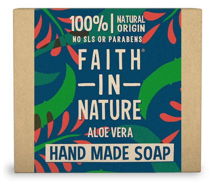 Faith in Nature rastlinné tuhé mydlo s pravým aloe vera, 100 g
