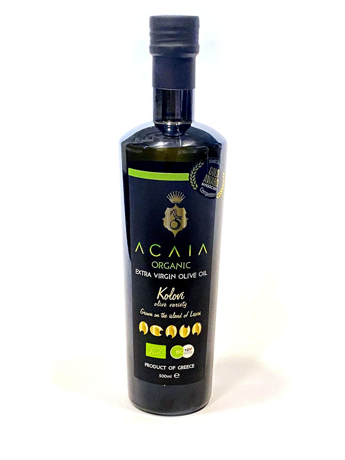 ACAIA Prémiový BIO extra panenský olivový olej, 500 ml *GR-BIO-15 certifikát