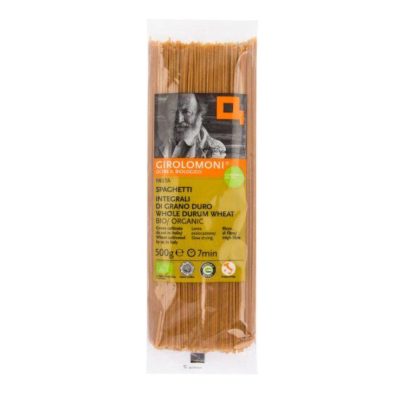 GIROLOMONI - špagety celozrnné semolinové BIO, 500 g