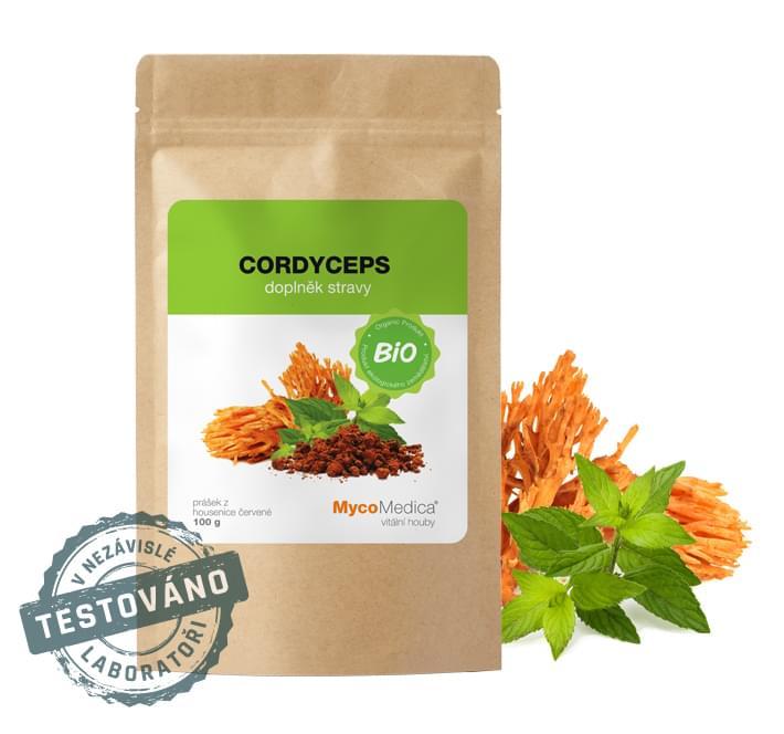MycoMedica - BIO Cordyceps prášek, 100 g *CZ-BIO-003 Certifikát