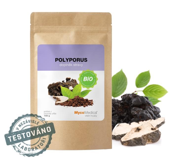 MycoMedica - BIO Polyporus prášek, 100 g *CZ-BIO-003 Certifikát