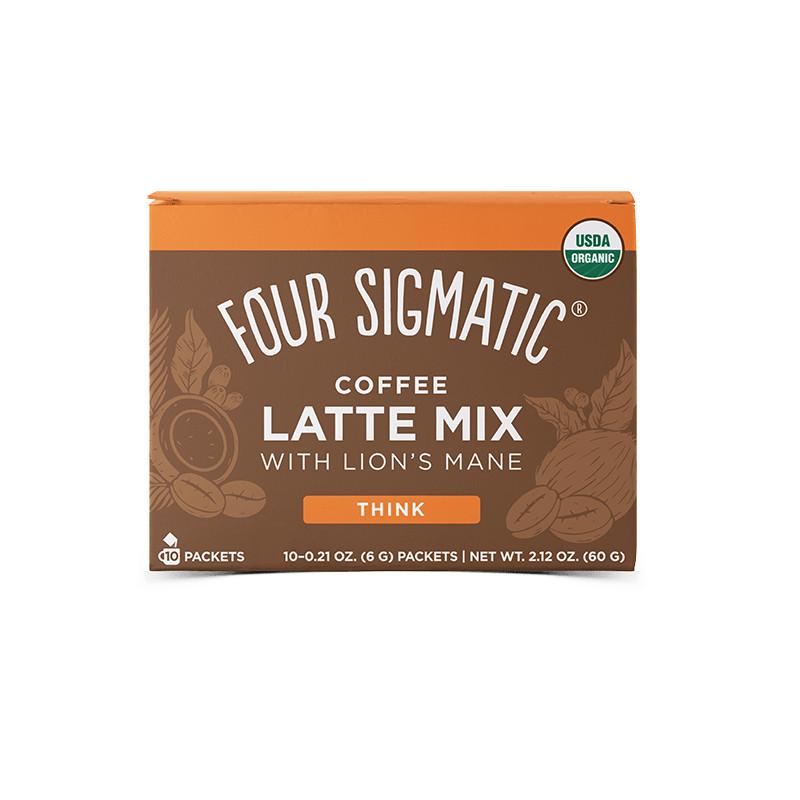 Four Sigmatic Lion's Mane Mushroom Coffee Latte mix Množstvo: 10 sáčkov