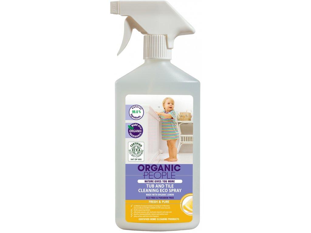 Organic People - Ekologický sprej čistič na vanu a dlaždice, 500 ml