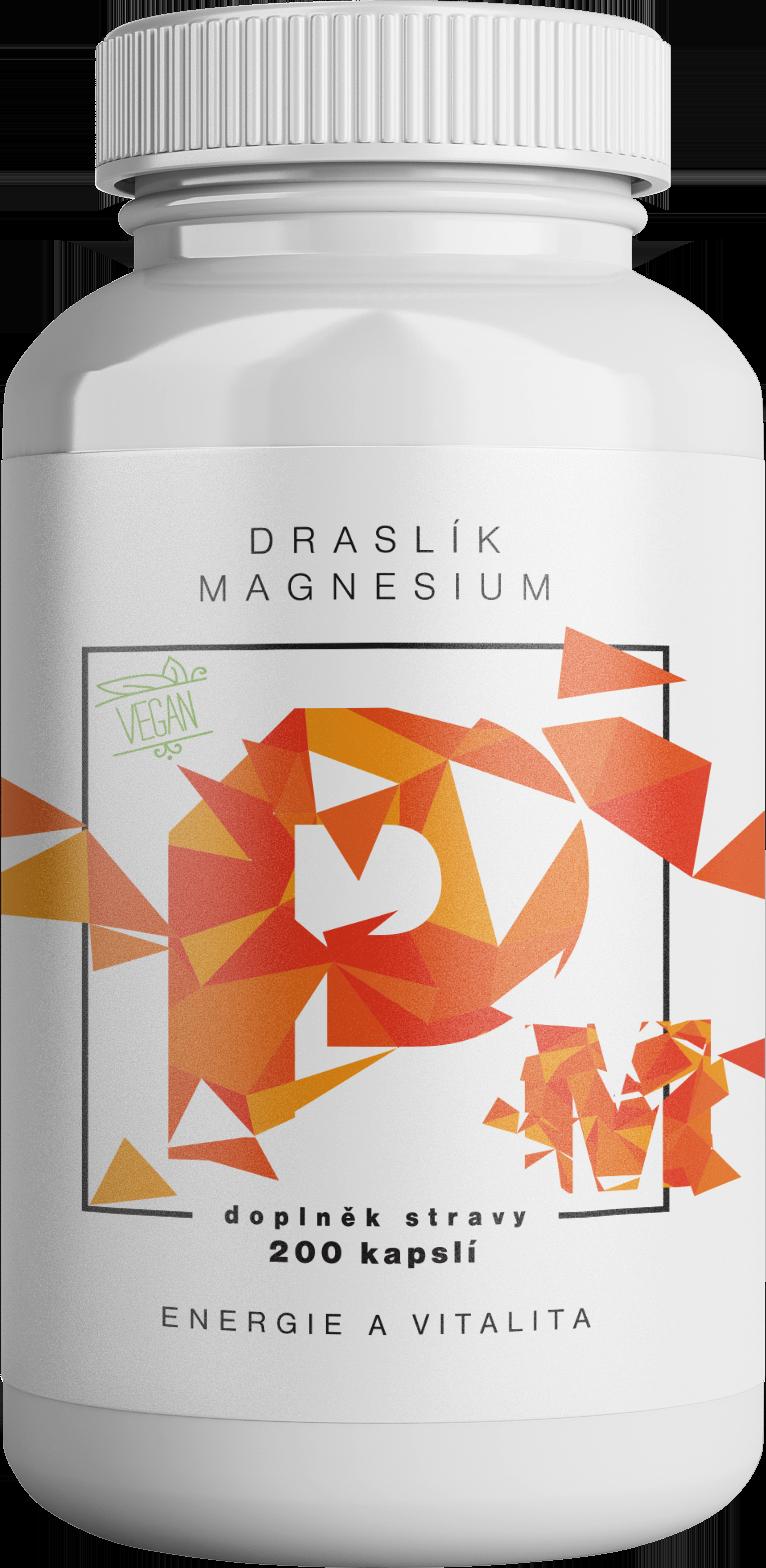 BrainMax Draslík Magnesium, Draslík citrát + Horčík malát, 200 rastlinných kapsúl