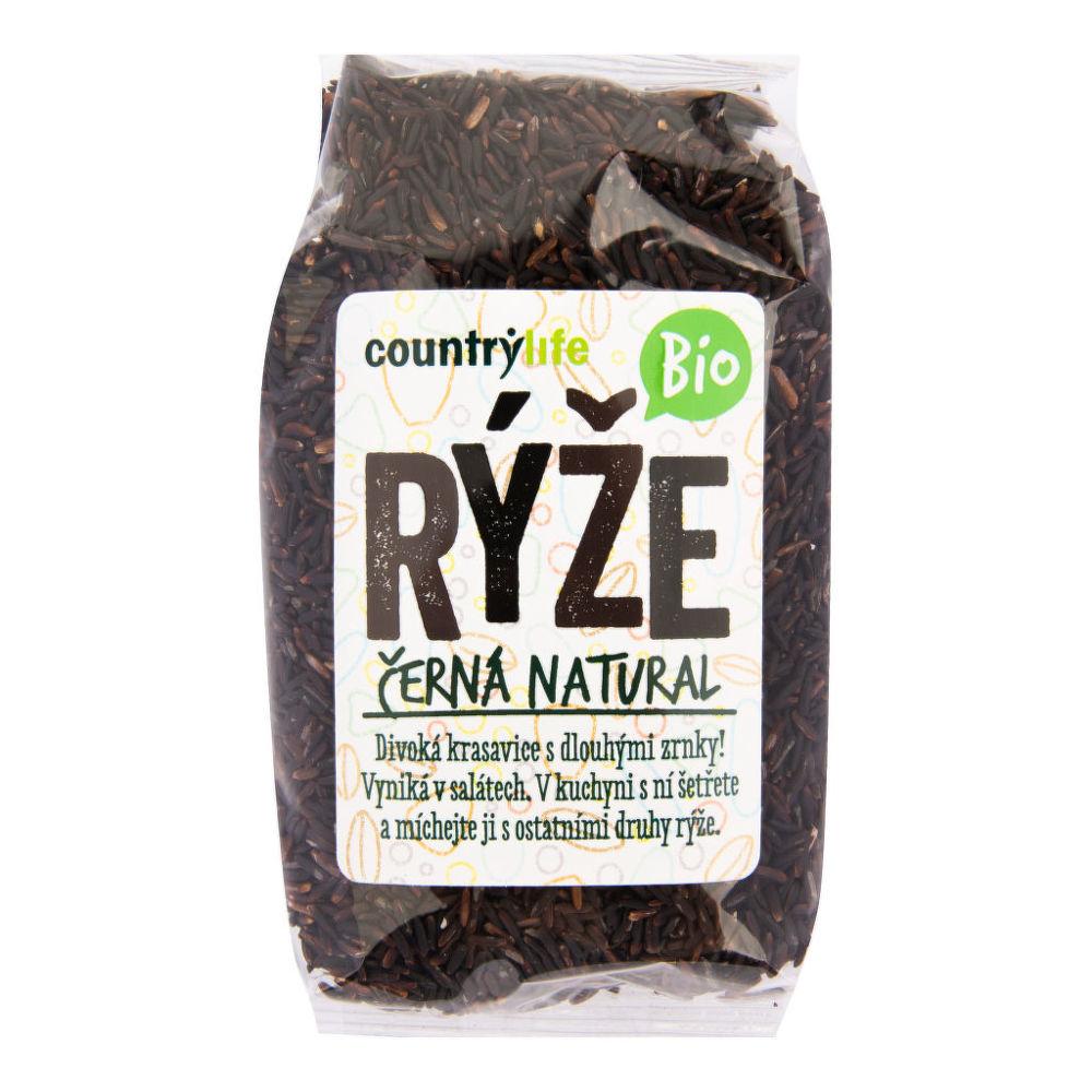 CountryLife - ryža čierna natural BIO, 500 g *cz-bio-001 certifikát