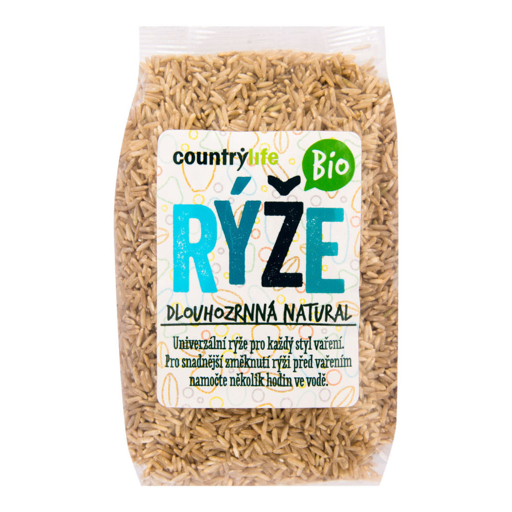 CountryLife - ryža dlhozrnná natural BIO, 500 g *cz-bio-001 certifikát
