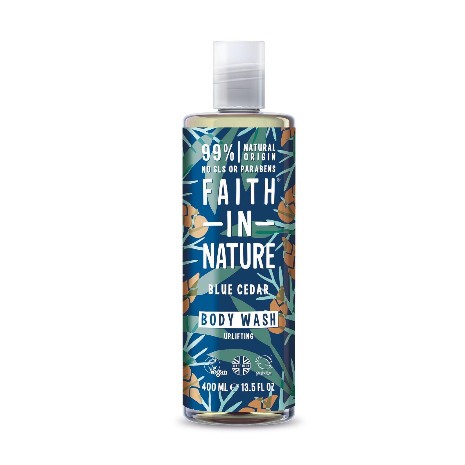 Faith in Nature Faith For Men, Přírodní sprchový gel - modrý cedr, 400ml
