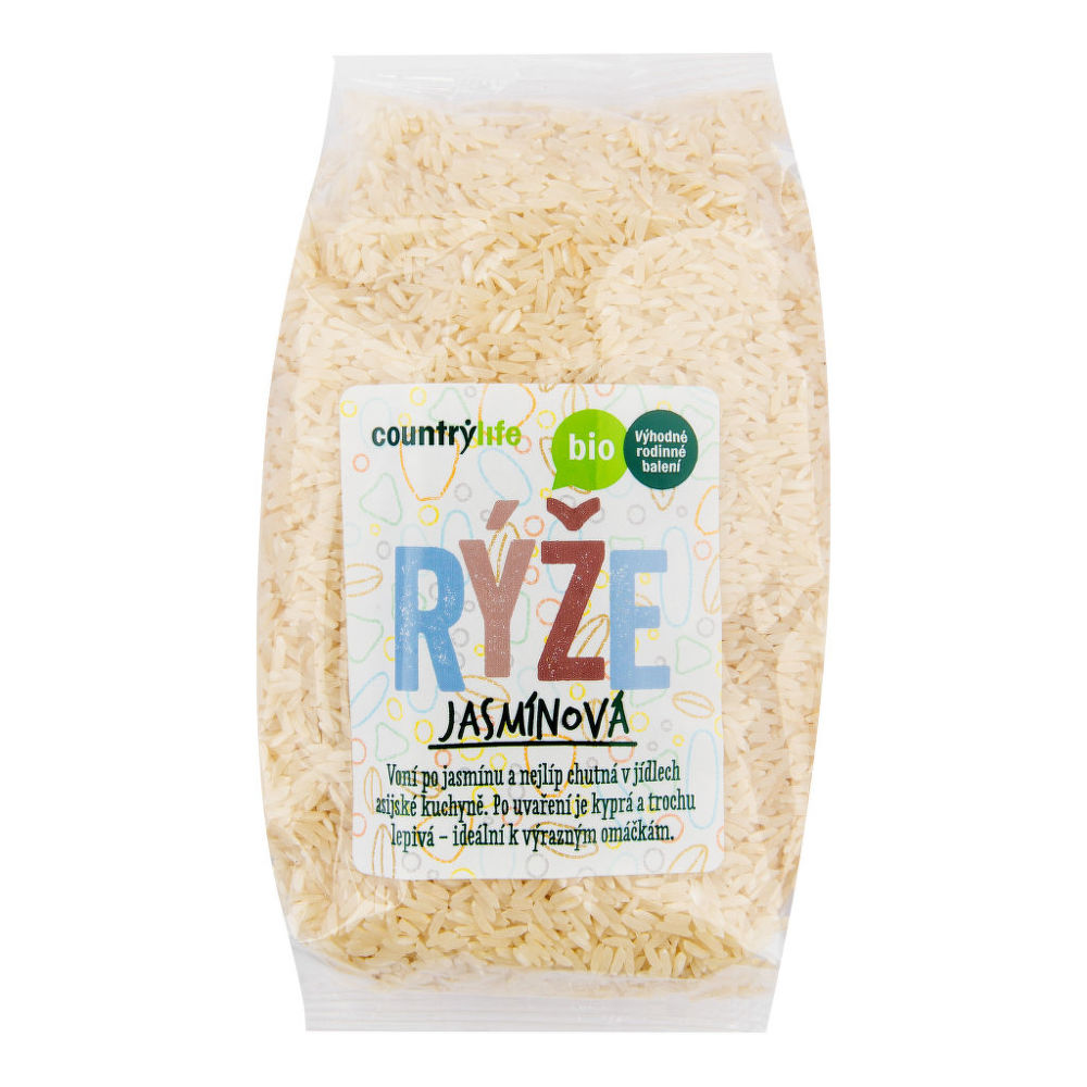 CountryLife - ryža jazmínová BIO, 1 kg