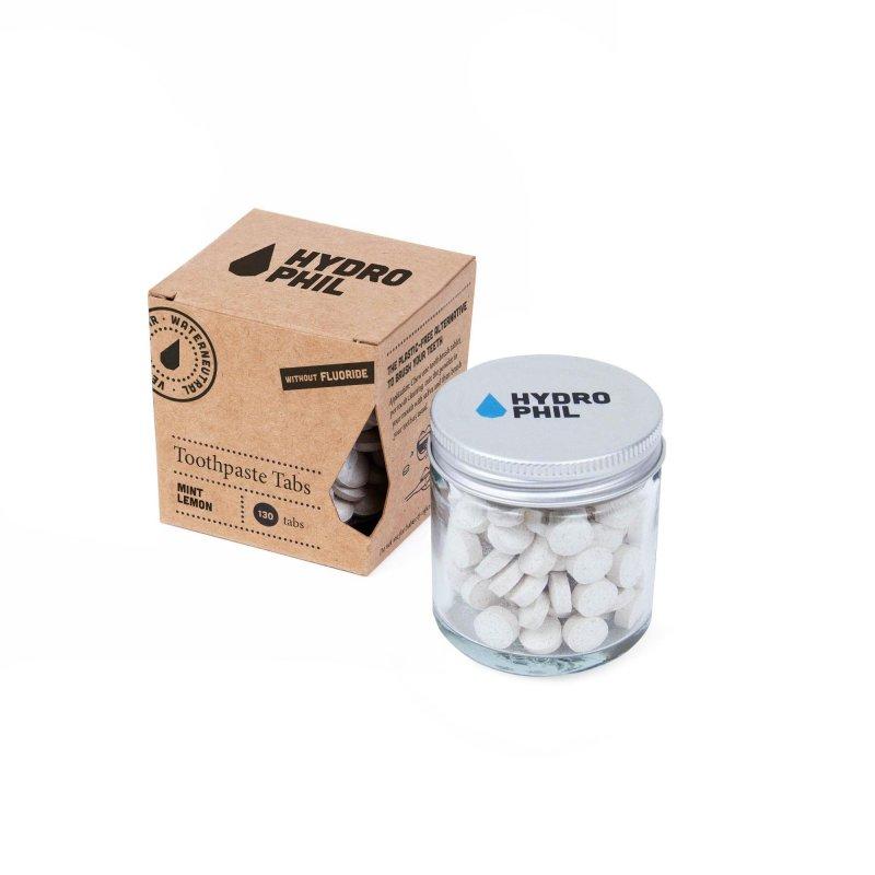Hydrophil Mátovo-citronová zubní pasta v tabletách - bez fluoru, 130 ks