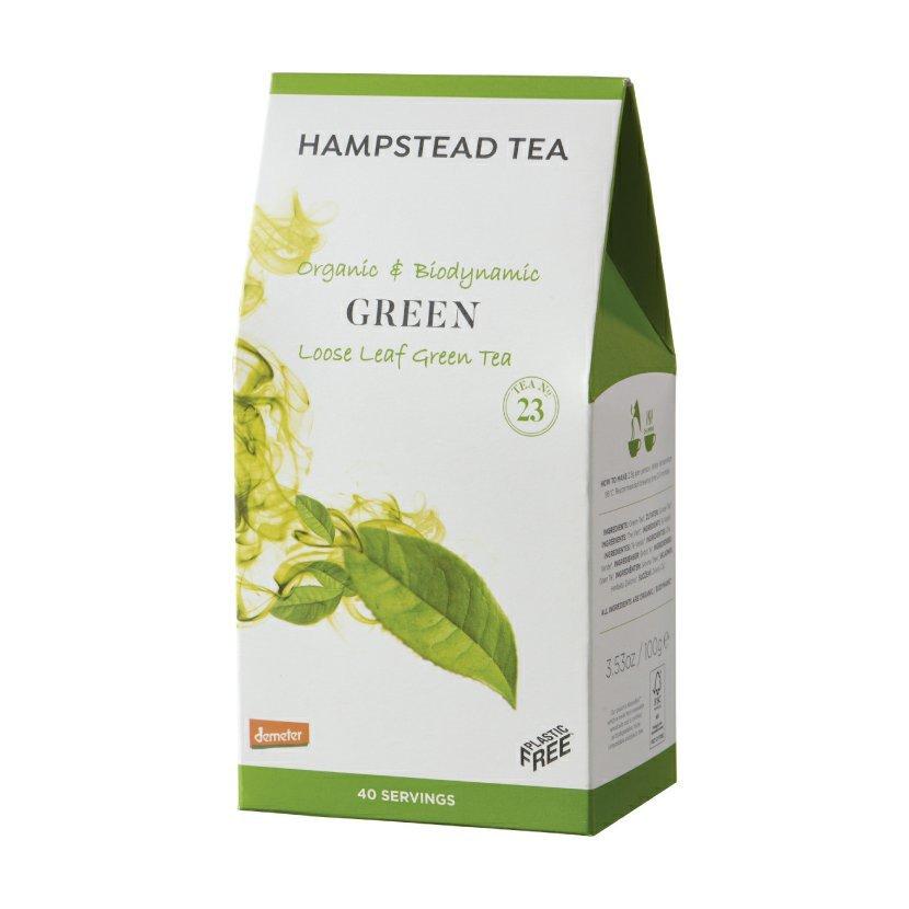 Hampstead Tea London BIO zelený sypaný čaj, 100 g