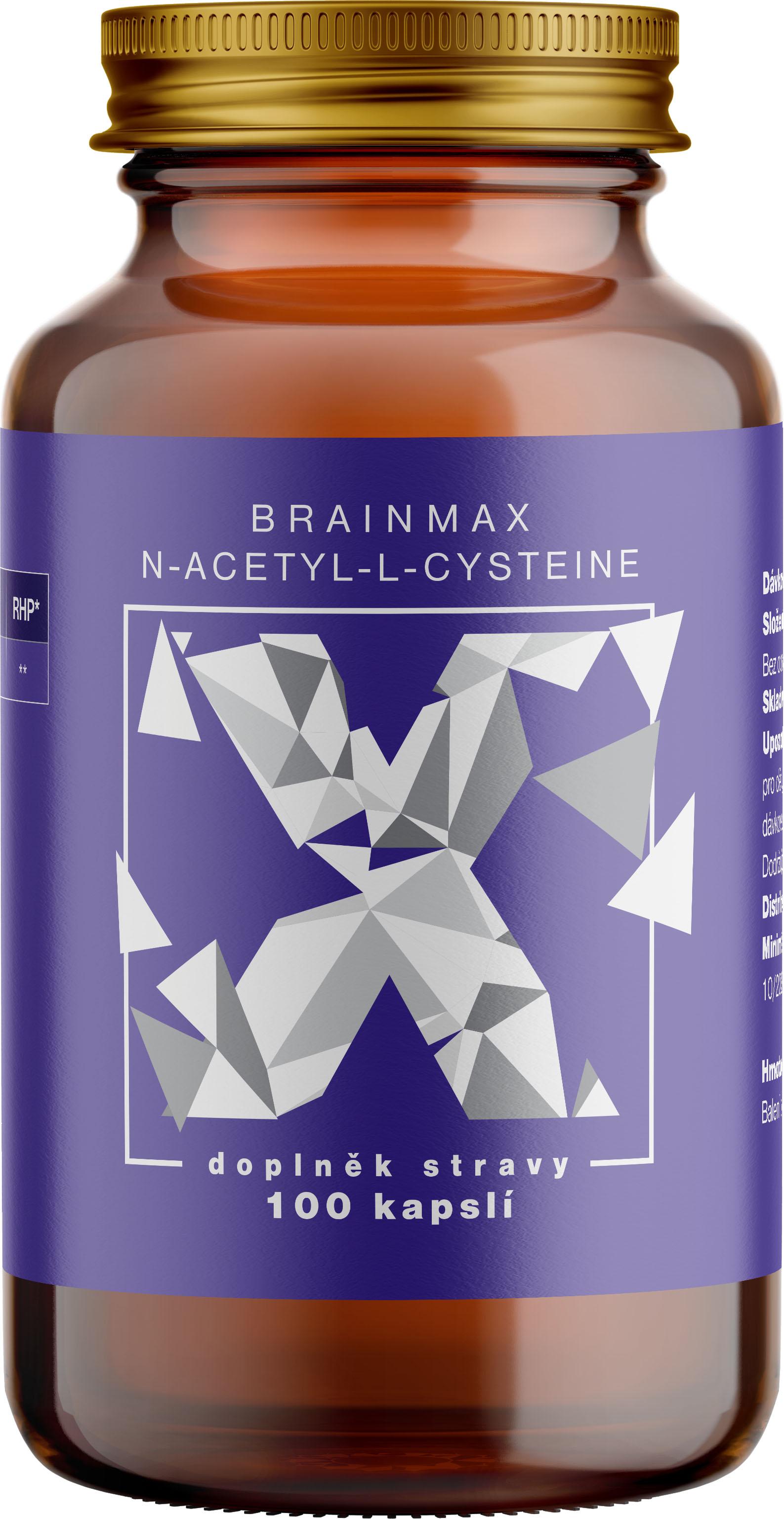 BrainMax N-Acetyl-L-Cysteine, NAC, 950 mg, 100 rastlinných kapsúl