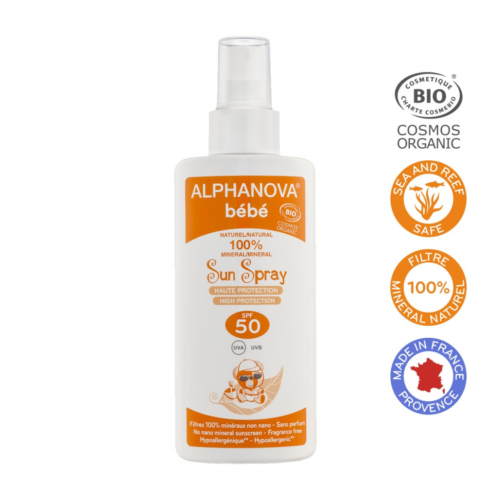 ALPHANOVA bio opaľovací krém pre bábätká SPF 50, 125 ml