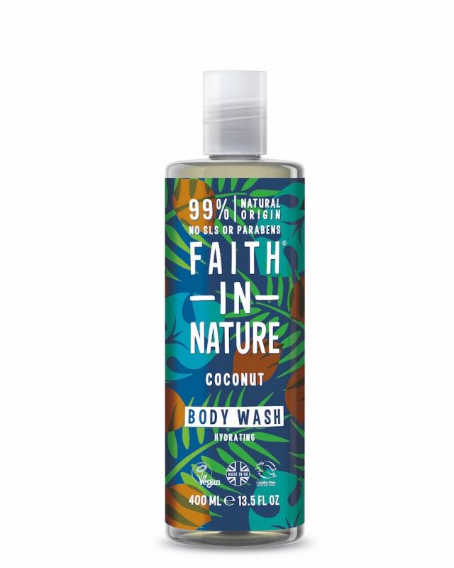 Faith in Nature prírodný sprchový gél - kokos, 400 ml