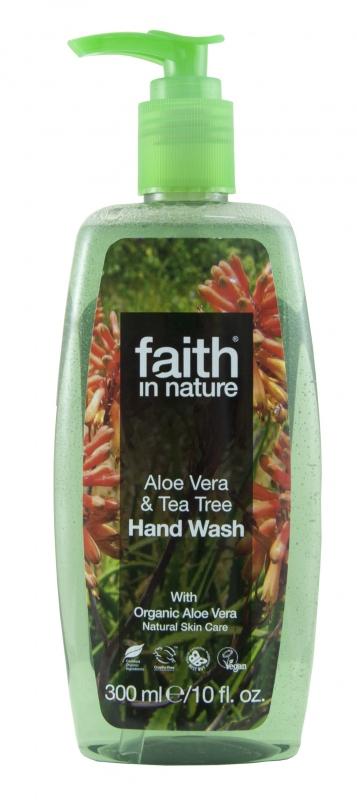 Faith in Nature tekuté mydlo s aloe vera a tea tree, 300 ml