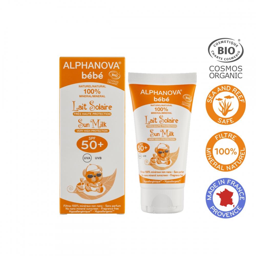 ALPHANOVA bio opaľovací krém pre bábätká SPF 50+, 50 ml