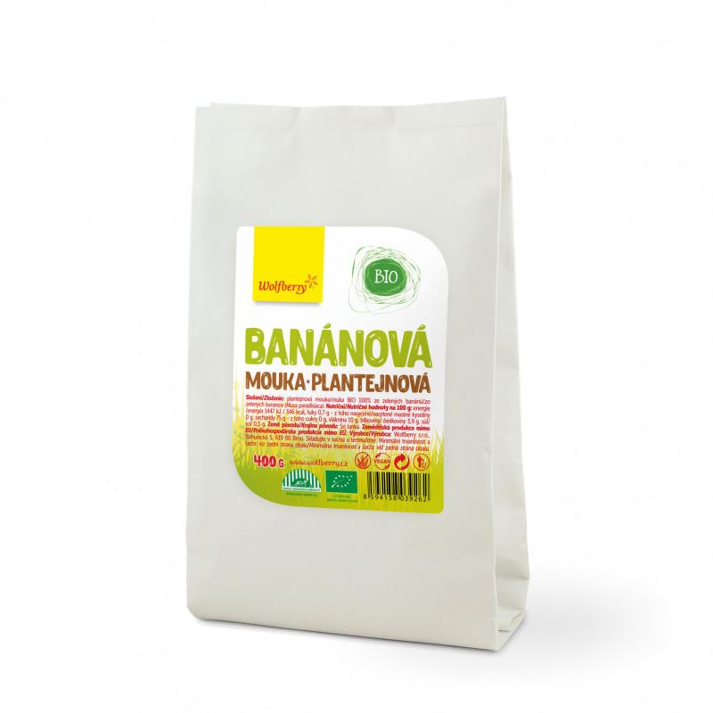 Wolfberry Banánová plantejnová mouka BIO, 400 g *CZ-BIO-002 Certifikát